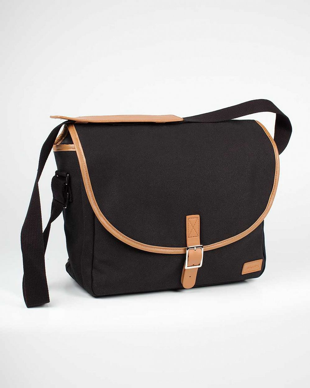 купить Сумка Submarine Haversack Canvas Leather Black Tan в Москве