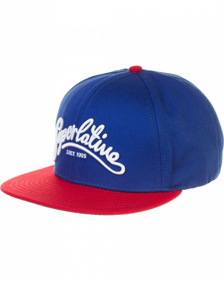 купить Кепка WeSC Superlative Script snapback baseball cap Sodalite blue в Москве