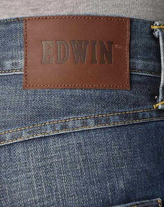 Джинсы мужские Edwin ED-55 Relaxed Tapered Dark Blue Denim 12 Oz BB use