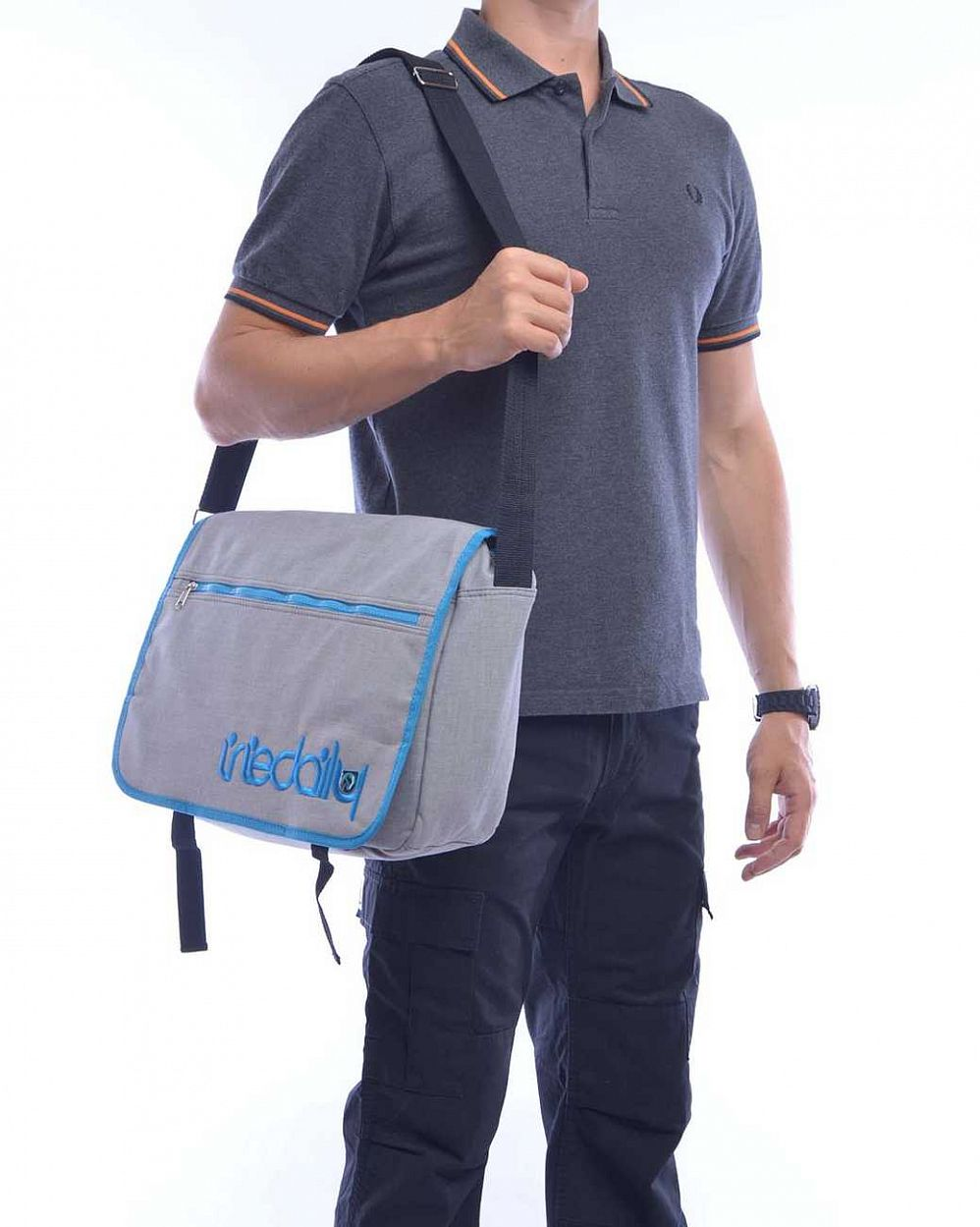 Cумка Iriedaily Allied Shoulder Bag Cyan Blue купить в интернете