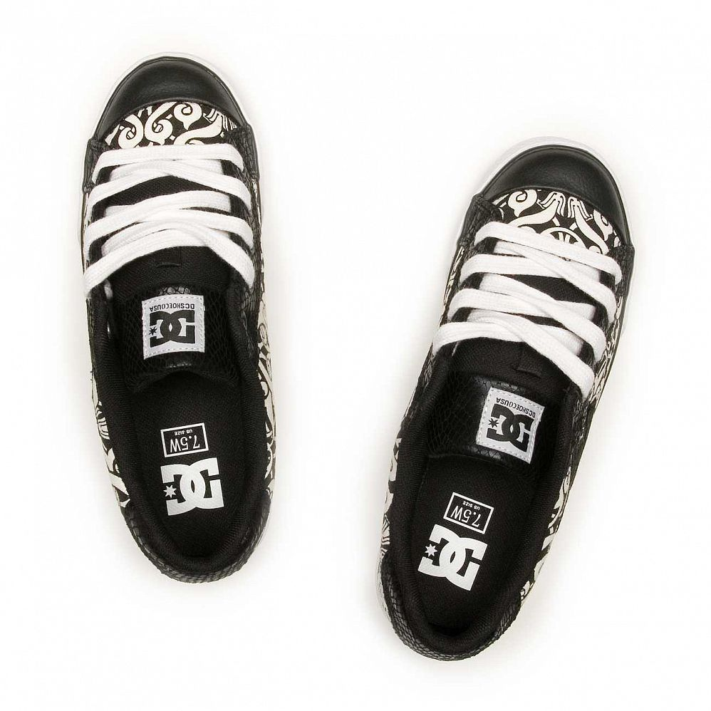 Кеды DC Shoes Chelsea W'S Black Black White купить в интернете