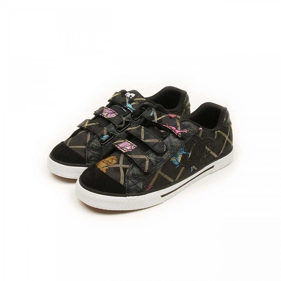b45d4d8a759 Кеды женские на липучке DC Shoes Chelsea V SE Black купить в ...