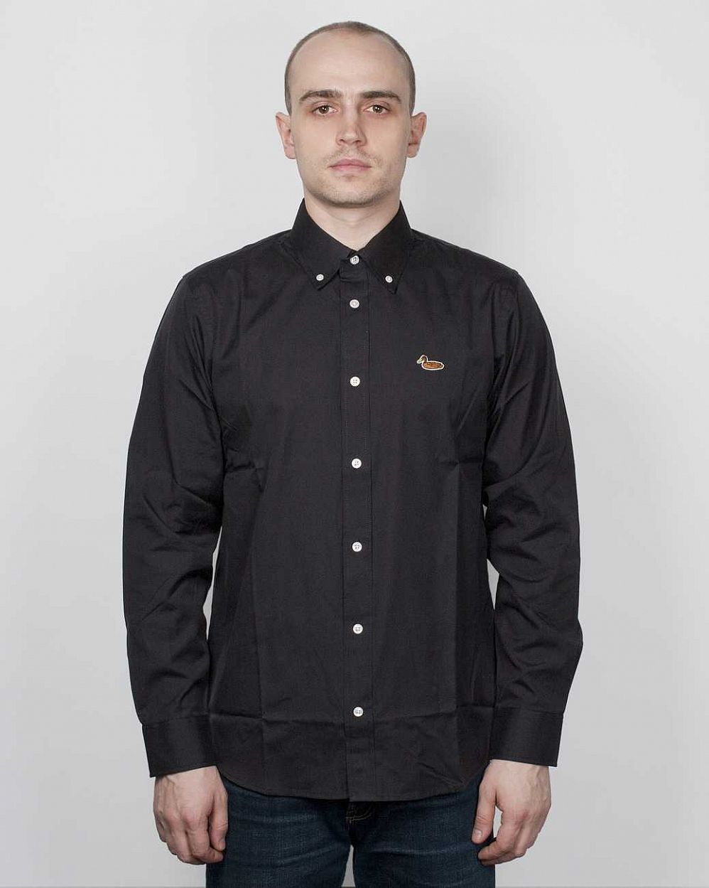 Рубашка Carhartt L/S Duck Shirt Crow Black отзывы